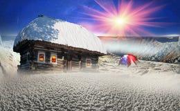 Πολικά σπίτια νεράιδων Στοκ Εικόνα
