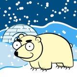 Πολική αρκούδα κινούμενων σχεδίων Στοκ εικόνα με δικαίωμα ελεύθερης χρήσης