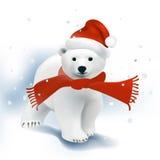 Πολική αρκούδα Santa διανυσματική απεικόνιση