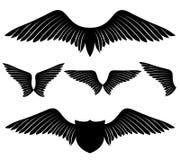 πολικό καθορισμένο διάνυσμα καρδιών κινούμενων σχεδίων φτερά Στοκ φωτογραφία με δικαίωμα ελεύθερης χρήσης