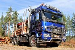 Πολικό φορτηγό αναγραφών Sisu Στοκ φωτογραφία με δικαίωμα ελεύθερης χρήσης