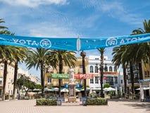 Πολιτικά εμβλήματα Laguna στην πλατεία, Ayamonte, Ισπανία Στοκ εικόνες με δικαίωμα ελεύθερης χρήσης