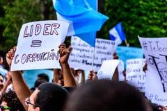 Πολιτικές διαμαρτυρίες, Αντίγκουα, Γουατεμάλα στοκ φωτογραφίες