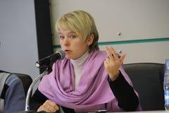 Πολιτικές Evgeniya Chirikova Στοκ φωτογραφία με δικαίωμα ελεύθερης χρήσης