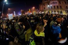 Πολιτική επίδειξη ενάντια στη δωροδοκία στο Βουκουρέστι Στοκ φωτογραφίες με δικαίωμα ελεύθερης χρήσης