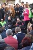 Πολιτική επίδειξη στη Ρώμη Στοκ φωτογραφία με δικαίωμα ελεύθερης χρήσης