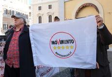 Πολιτική επίδειξη στη Ρώμη Στοκ εικόνες με δικαίωμα ελεύθερης χρήσης