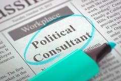Πολιτική κενή θέση εργασίας συμβούλων τρισδιάστατος Στοκ Φωτογραφία