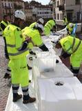 Πολιτική προστασία κατά τη διάρκεια της διεθνούς άσκησης Στοκ Εικόνες