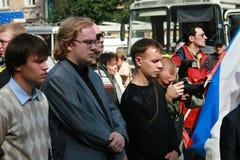 Πολιτικοί από το κόμμα Yabloko, Ivan Bolshakov Στοκ εικόνα με δικαίωμα ελεύθερης χρήσης