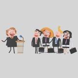 Πολιτικός επιχειρηματιών που δίνει μια συνεδρίαση για pulpit Στοκ φωτογραφία με δικαίωμα ελεύθερης χρήσης