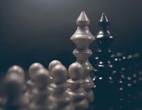 Πολιτικός διάλογος Παιχνίδι σκακιού κινδύνου Σύγκρουση συμφερόντων στοκ εικόνες