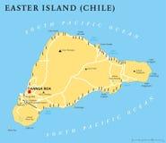 Πολιτικός χάρτης νησιών Πάσχας ελεύθερη απεικόνιση δικαιώματος