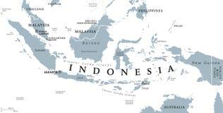 Πολιτικός χάρτης της Ινδονησίας διανυσματική απεικόνιση