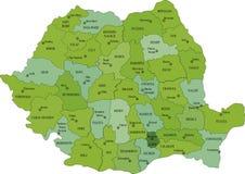 Πολιτικός χάρτης της Ρουμανίας Στοκ φωτογραφίες με δικαίωμα ελεύθερης χρήσης