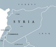 Πολιτικός χάρτης της Συρίας ελεύθερη απεικόνιση δικαιώματος