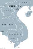 Πολιτικός χάρτης του Βιετνάμ ελεύθερη απεικόνιση δικαιώματος