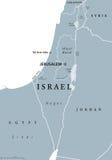 Πολιτικός χάρτης του Ισραήλ γκρίζος ελεύθερη απεικόνιση δικαιώματος