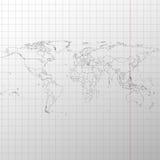 Πολιτικός χάρτης του κόσμου στο διάνυσμα βιβλίων άσκησης Στοκ φωτογραφίες με δικαίωμα ελεύθερης χρήσης