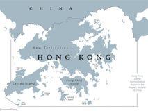 Πολιτικός χάρτης Χονγκ Κονγκ διανυσματική απεικόνιση