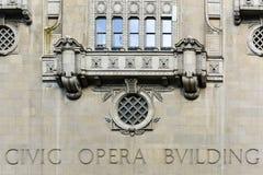 Πολιτικό κτήριο οπερών - Σικάγο Στοκ Εικόνες