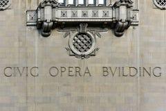 Πολιτικό κτήριο οπερών - Σικάγο Στοκ Εικόνα