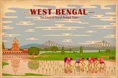 Πολιτισμός της δυτικής Βεγγάλης διανυσματική απεικόνιση