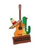 Πολιτισμός του Μεξικού και σχέδιο ορόσημων Στοκ Εικόνα