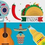 Πολιτισμός του Μεξικού και σχέδιο ορόσημων Στοκ φωτογραφίες με δικαίωμα ελεύθερης χρήσης