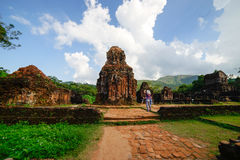 Πολιτισμός Champa, το άδυτο γιων μου, ινδοί ναοί, πεσμένο Α βασίλειο στο Βιετνάμ, ειρηνικοασιατικό Στοκ Φωτογραφίες