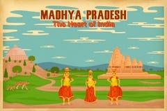 Πολιτισμός Madhya Pradesh διανυσματική απεικόνιση