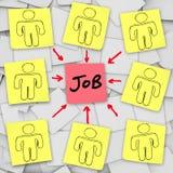 Πολλοί άνεργοι υποψήφιοι ανταγωνίζονται για μια εργασία απεικόνιση αποθεμάτων