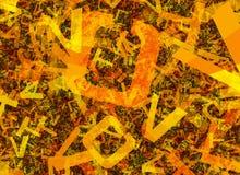 Πολλοί αφαιρούν τις χαοτικές πορτοκαλιές επιστολές αλφάβητου ελεύθερη απεικόνιση δικαιώματος