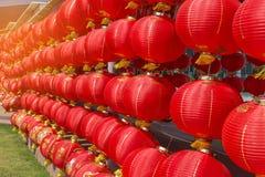 Πολλοί κόκκινο κινεζικό φανάρι Στοκ φωτογραφία με δικαίωμα ελεύθερης χρήσης