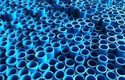Πολλοί μπλε σωλήνας Στοκ φωτογραφίες με δικαίωμα ελεύθερης χρήσης