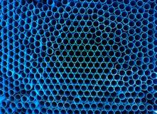 Πολλοί μπλε σωλήνας Στοκ εικόνες με δικαίωμα ελεύθερης χρήσης