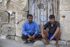 Πολλοί πρόσφυγες προέρχονται από την Τουρκία διογκώσιμες βάρκες Στοκ φωτογραφία με δικαίωμα ελεύθερης χρήσης
