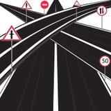 Πολλοί δρόμοι Στοκ φωτογραφία με δικαίωμα ελεύθερης χρήσης
