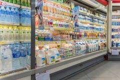 Πολλοί τύποι γαλάτων και γαλακτοκομικών προϊόντων Στοκ Φωτογραφία