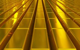 Χρυσοί φραγμοί απεικόνιση αποθεμάτων