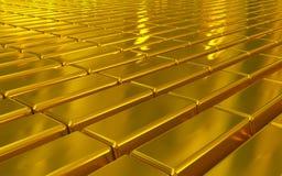 Χρυσοί φραγμοί Στοκ Φωτογραφία