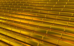 Χρυσοί φραγμοί διανυσματική απεικόνιση
