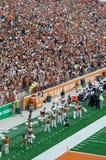 Ποδοσφαιρικό παιχνίδι κολλεγίων του Τέξας Longhorns Στοκ Εικόνες