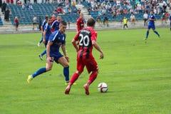 ποδοσφαιρικό παιχνίδι ποδόσφαιρο Στοκ φωτογραφίες με δικαίωμα ελεύθερης χρήσης