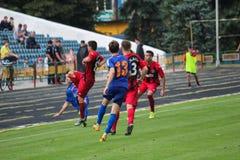 ποδοσφαιρικό παιχνίδι ποδόσφαιρο Στοκ φωτογραφία με δικαίωμα ελεύθερης χρήσης