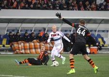 Ποδοσφαιρικό παιχνίδι Shakhtar Ntone'tsk εναντίον της Μπάγερν Μόναχο Στοκ φωτογραφία με δικαίωμα ελεύθερης χρήσης