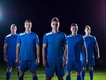 Ποδοσφαιριστές που γιορτάζουν τη νίκη Στοκ φωτογραφίες με δικαίωμα ελεύθερης χρήσης