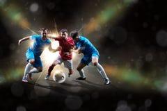 Ποδοσφαιριστές στη δράση Στοκ Εικόνες