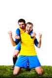 Ποδοσφαιριστές Στοκ Εικόνες