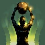 Ποδοσφαιριστής και τρόπαιο ελεύθερη απεικόνιση δικαιώματος